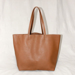 LAST ONE Handmade Brown Leather Tote Bag
